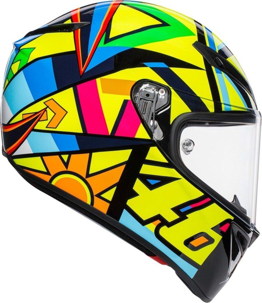 AGV Veloce S Soleluna Motorcycle Helmet Yellow