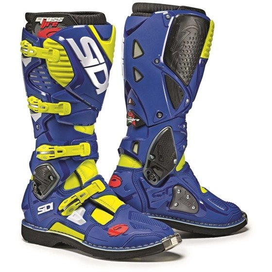 Motorcycle Enduro Boots SIDI CROSSFIRE 3 blue/yellow