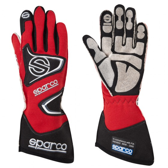 Sparco Race & Kart Gloves TIDE H-9 red (FIA Approved)
