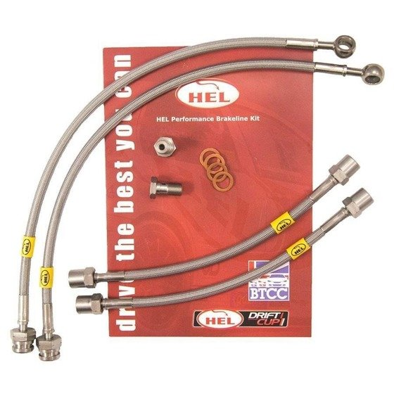 Stainless Steel Braided Brake Lines HEL Ford Escort MK5/MK6 1.8D 1990-1994