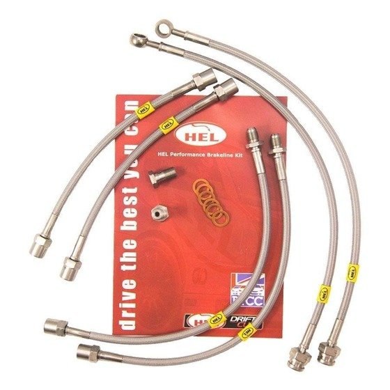 Stainless Steel Braided Brake Lines HEL Ford Granada III 1.8 1985-1988